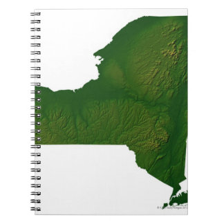 Map of New York State Spiral Note Books