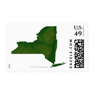 Map of New York State Postage