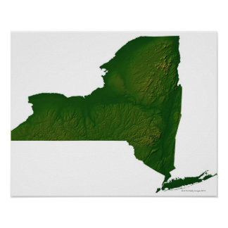 Map of New York State Poster