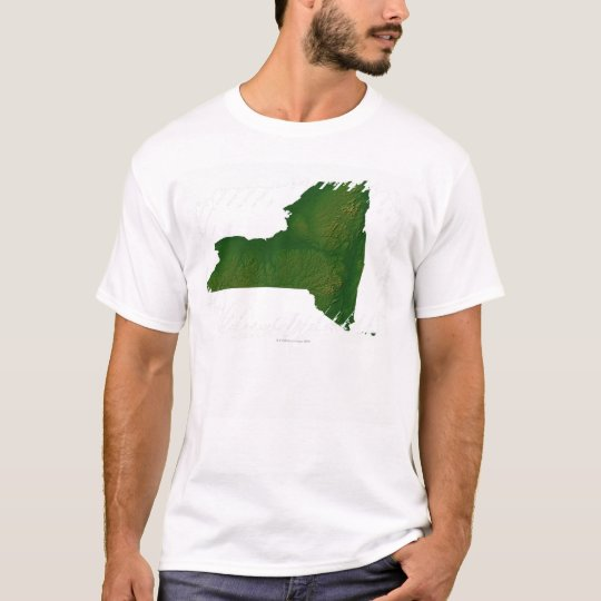 Map of New York State T-Shirt