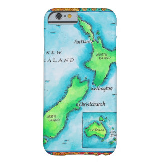 Map of New Zealand 2 Barely There iPhone 6 Case