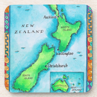 Map of New Zealand 2 Coasters