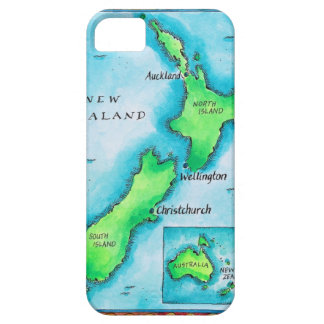 Map of New Zealand 2 iPhone SE/5/5s Case
