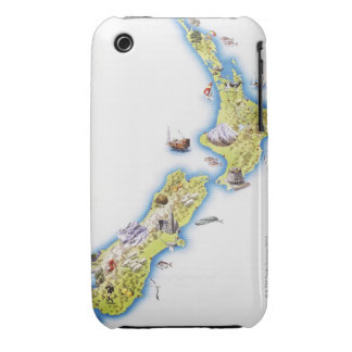 Map of New Zealand iPhone 3 Cases