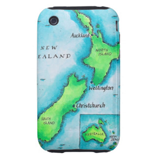 Map of New Zealand iPhone 3 Tough Cases