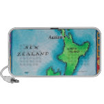Map of New Zealand iPod Speakers