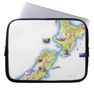 Map of New Zealand Laptop Sleeve