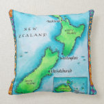 Map of New Zealand Pillows