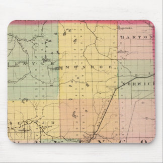 Map of Newaygo County, Michigan Mouse Pad