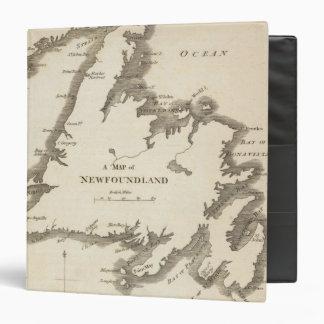 Map of Newfoundland Binders