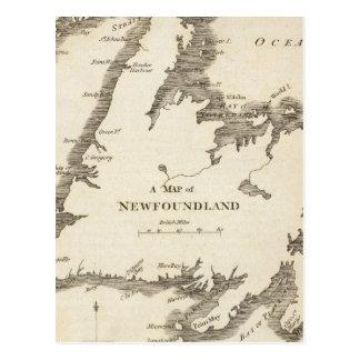 Map of Newfoundland Postcard
