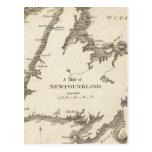 Map of Newfoundland Postcards