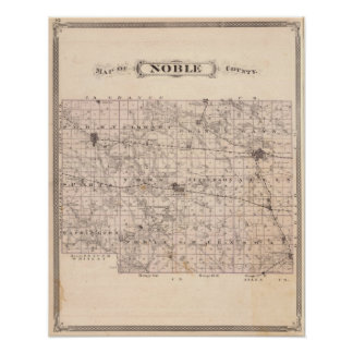 Map of Noble County Poster