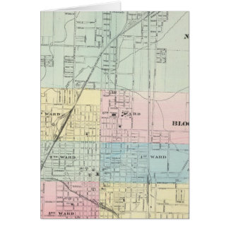 Map of Normal Bloomington Greeting Cards