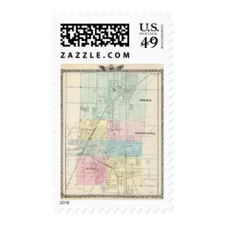 Map of Normal, Bloomington Postage Stamp