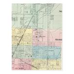 Map of Normal, Bloomington Postcard
