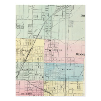 Map of Normal, Bloomington Post Cards
