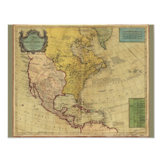Map of North America (1765) Card