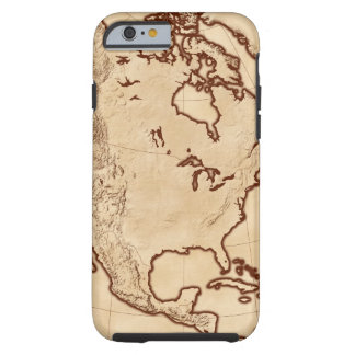 Map of North America 2 Tough iPhone 6 Case