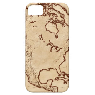 Map of North America 2 iPhone 5 Cases