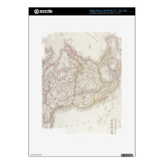 Map of North America 2 Decal For iPad 3