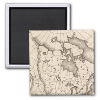 Map of North America 2 Inch Square Magnet