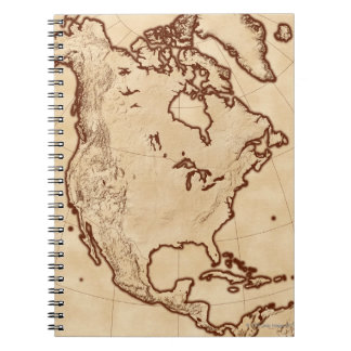 Map of North America 2 Notebook