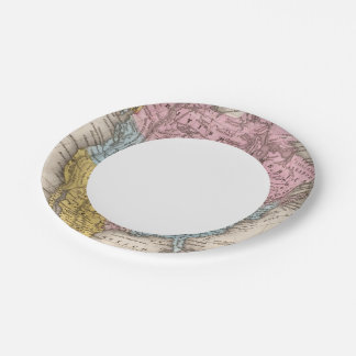 Map of North America 2 7 Inch Paper Plate