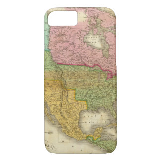 Map of North America 3 iPhone 8/7 Case
