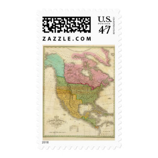 Map of North America 3 Postage