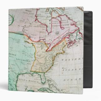 Map of North America 3 Ring Binder