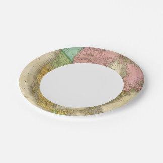 Map of North America 3 7 Inch Paper Plate