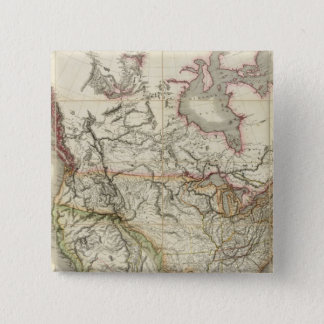Map of North America 4 Pinback Button