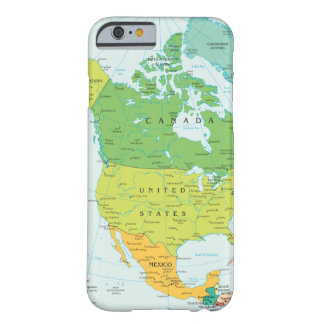 Map of North-America Barely There iPhone 6 Case