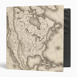 Map of North America Binders