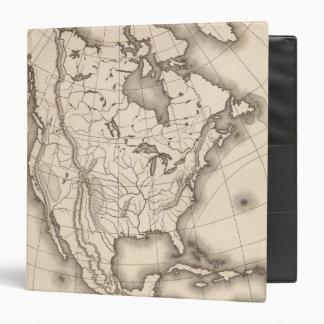 Map of North America Binder