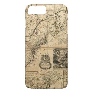Map of North America (British Colonies) 1731 iPhone 8 Plus/7 Plus Case