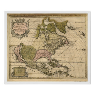 Map of North America by Alexis Hubert Jaillot 1694 Posters