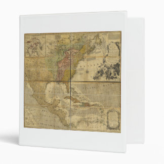 Map of North America by Emanuel Bowen (1755) 3 Ring Binder