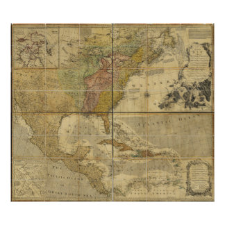 Map of North America by Emanuel Bowen (1755) Poster
