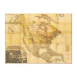 Map of North America by Henry Schenck Tanner 1822 Canvas Print