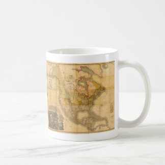 Map of North America by Henry Schenck Tanner 1822 Coffee Mug
