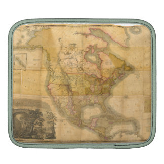 Map of North America by Henry Schenck Tanner 1822 iPad Sleeve