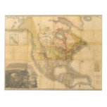 Map of North America by Henry Schenck Tanner 1822 Scratch Pad