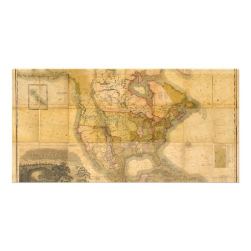 Map of North America by Henry Schenck Tanner 1822 Photo Card