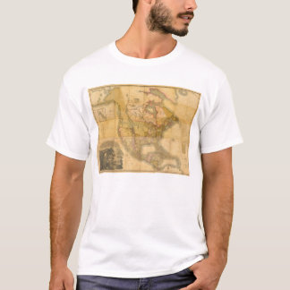 Map of North America by Henry Schenck Tanner 1822 T-Shirt