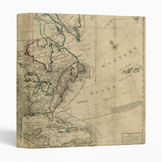 Map of North America by Herman Moll (1715) Binder