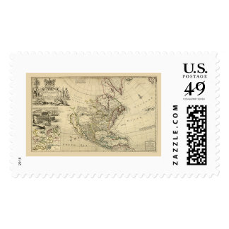 Map of North America by Herman Moll 1715 Postage