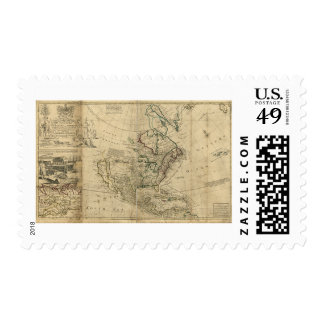 Map of North America by Herman Moll (1715) Postage