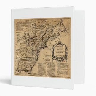 Map of North America by Jefferys & Anville (1755) Vinyl Binder